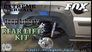 jeep liberty suspension jeep liberty rear lift kit with brakes suspension project