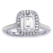 cubic zirconia halo engagement rings suzy levian bridal sterling silver asscher cut white cubic