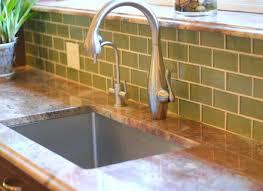 green kitchen backsplash mint green subway tile backsplash home design ideas within idea 13