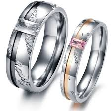 shine wedding band opk fashion rings stainless steel wedding band promise