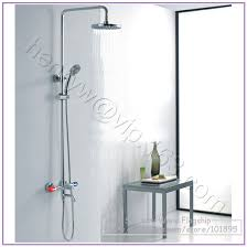 Double Handle Shower Faucet L15170 Luxury High Quality Brass Head Rain Overhead Shower Double