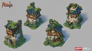 artstation albion online swamp 2d highlands concepts airborn