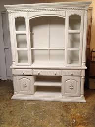classic white painted oak wood tv cabinet with shelves of dazzling
