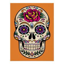 sugar skull posters zazzle