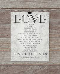1 corinthians 13 wedding 1 corinthians 13 4 8 print is patient never fails