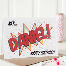 personalised happy birthday card pop style by