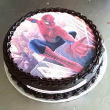 send online spiderman chocolate photo cake to delhi ncr mumbai and