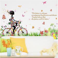 autocollant chambre fille amovible 3d autocollant chambre fond décoration murale stickers