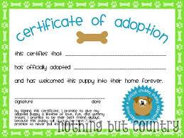 fake adoption certificate template