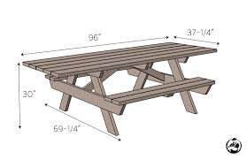 Plans For Wooden Picnic Tables by Wheelchair Accessible Picnic Table Rogue Engineer