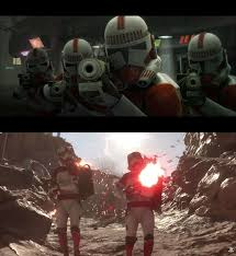 shock troopers of two different eras starwars