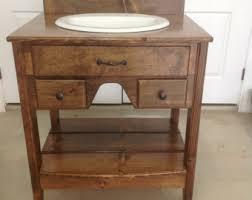 Pine Vanity Table Rustic Vanity Etsy