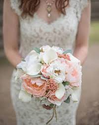 brides bouquet peony wedding bouquet coral and bridal bouquet silk