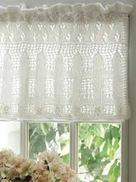Lace Valance Curtains Knitting Windows Doors Floors Picket Fence Lace Valance