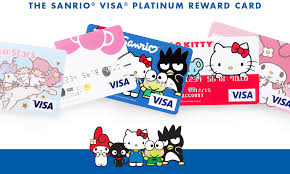 sanrio visa reward credit card official kitty