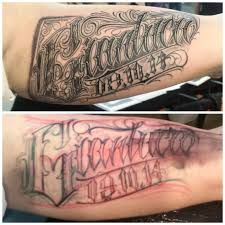 lettering arm tattoos philippe délas certified artist