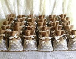 burlap favor bags burlap favor bags wedding filled potpourri lace covered burlap