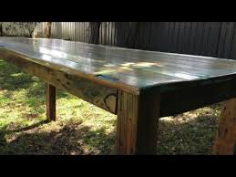 Distressed Table How To Build A Rustic Distressed Table Video 3 Youtube