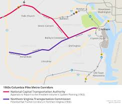 Pentagon Map Why Is There No Metro Line On Columbia Pike U2013 Greater Greater