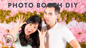 How Much Does A Photo Booth Cost A Diy Photo Booth Backdrop Wall Honeysuckle Youtube