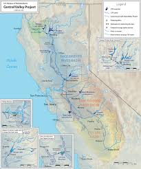 Map Of The Coast Of California Central Valley Project Wikipedia