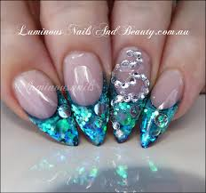 pink acrylic nail designs silver another heaven nails design