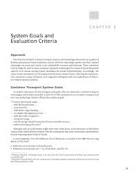 statement of purpose and objectives chapter 3 system goals and evaluation criteria evaluating page 27