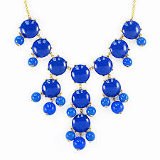 blue necklace images Bubble necklace royal blue necklace with cascading baubles jpg