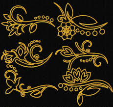 oriental designs advanced embroidery designs oriental accents flower border set