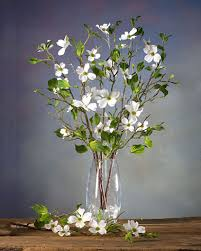 dogwood flowers dogwood silk flower stems for casual decorating at petals