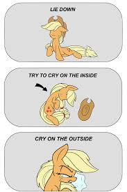 Try Not To Cry Meme - 1047022 applejack artist heir of rick crying crying inside