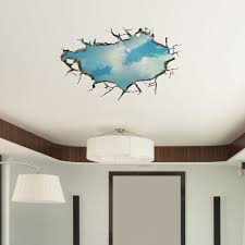 Wall Art Images Home Decor 3d Sky Wall Decals Ceiling Hole Wall Art Stickers 22 Inch