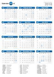 Kalendar 2018 Nederland Kalender 2018