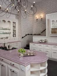 Kitchen Cabinets In White Pink Kitchen Love This Kitchen Not Just Cause Its Pink Also