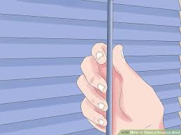 Washing Vertical Blinds In The Bath 6 Ways To Clean A Venetian Blind Wikihow