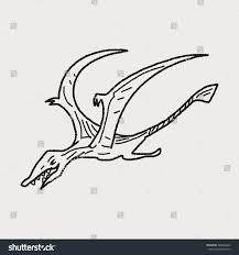 pterodactyl dinosaur doodle stock vector 288498035 shutterstock