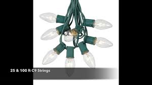 c9 clear incandescent bulbs from novelty lights youtube