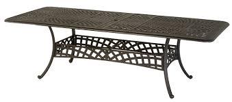 cast aluminum dining table berkshire by hanamint luxury cast aluminum patio furniture