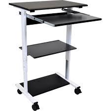 luxor three shelf adjustable stand up workstation stand ws30 b u0026h