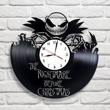 nightmare before christmas 1 design vinyl clock diy clock
