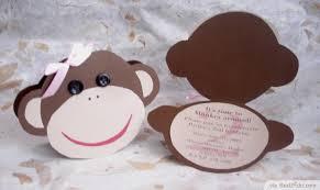 7 printable monkey baby shower invitations bestpickr