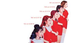 picture height who are the tallest and shortest red velvet kpopmap
