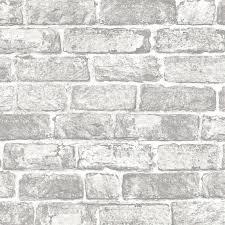 fresco white brick wall wallpaper at homebase co uk