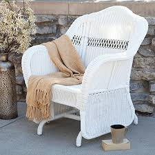 White Wicker Armchair White Wicker Chair Amazon Com