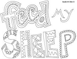 feedmysheep jpg colouring page christian colouring pages