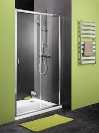 Frame Shower Door Sliding Shower Door With Satin Chrome Frame And Clear Glass Home