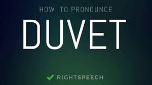 Duvet Dictionary Duvet How To Pronounce Duvet Youtube