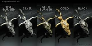 animal gold necklace images Bull cow cattle horn head skull pendant necklace animal gold jpg