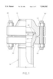 patent us5368342 misalignment flange and method for use google