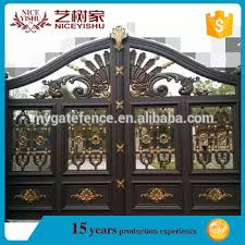 modern wholesale luxury ornamental single aluminum grill gate